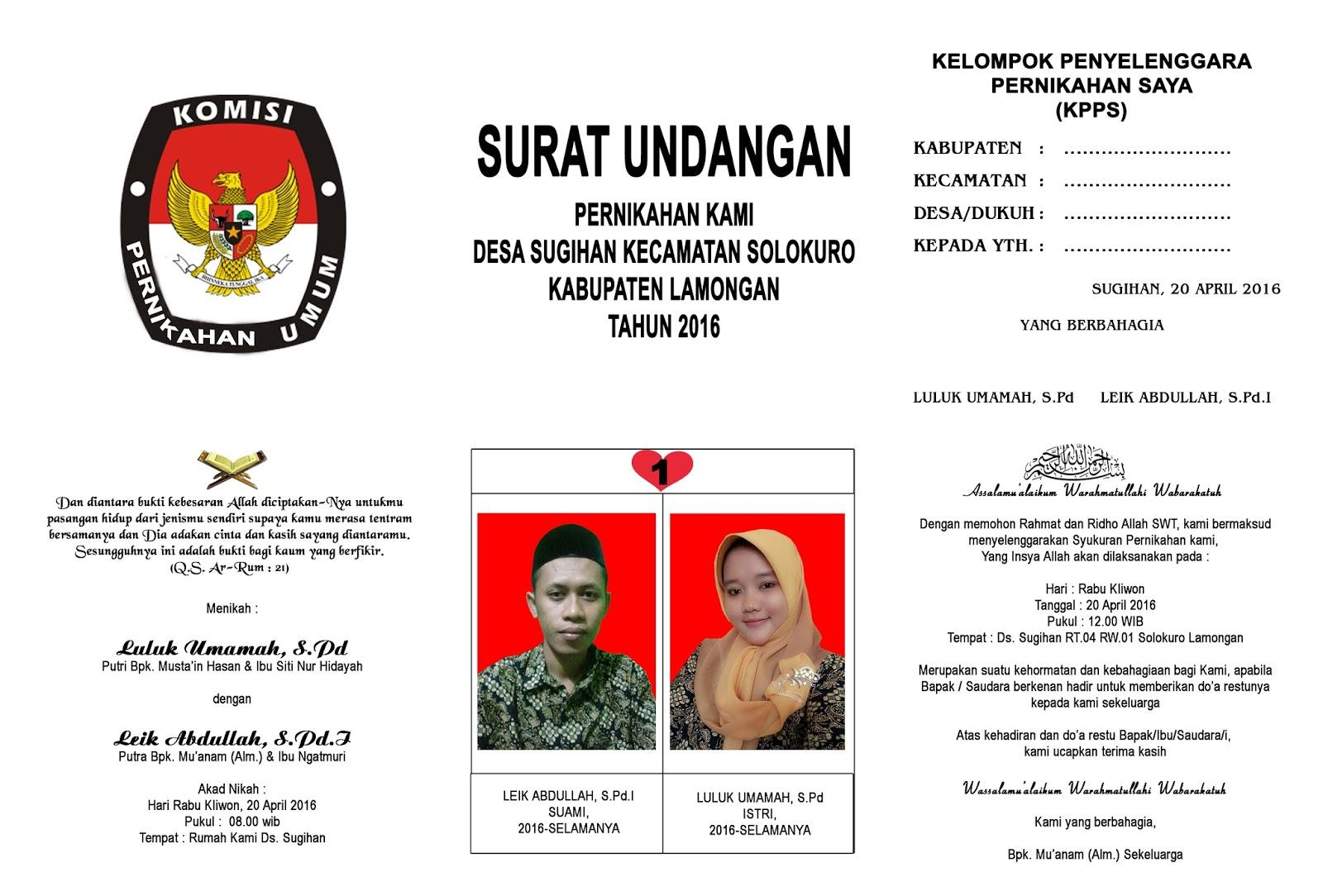 Undangan Pernikahan Model Surat Suara Murah Jawa Timur Nirwana