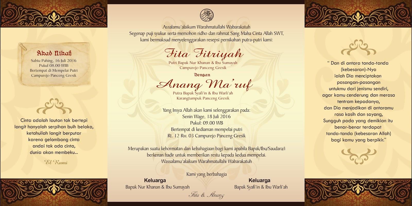 Undangan Pra Wedding Klasik Termurah Lamongan Jawa Timur Nirwana