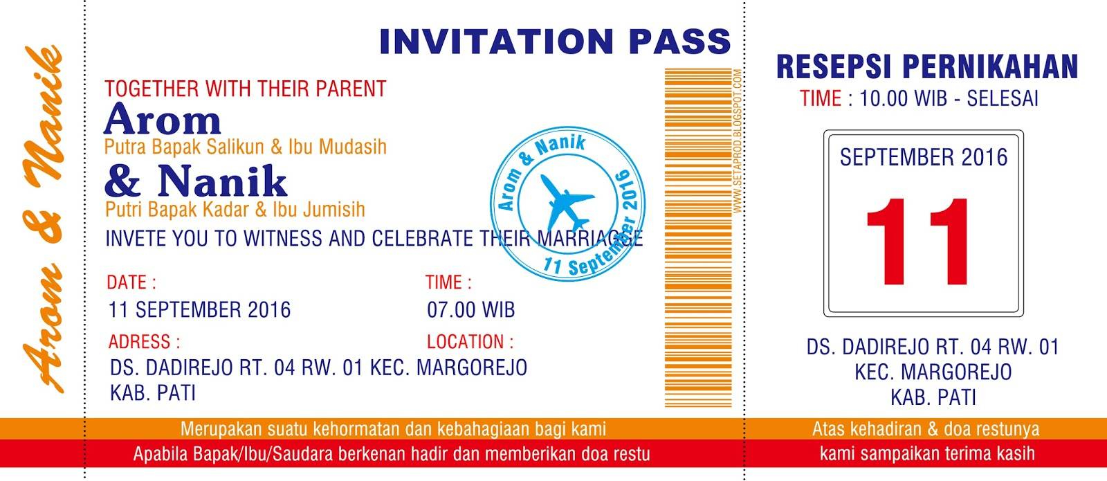 desain undangan pernikahan unik | Nirwana Digital Print