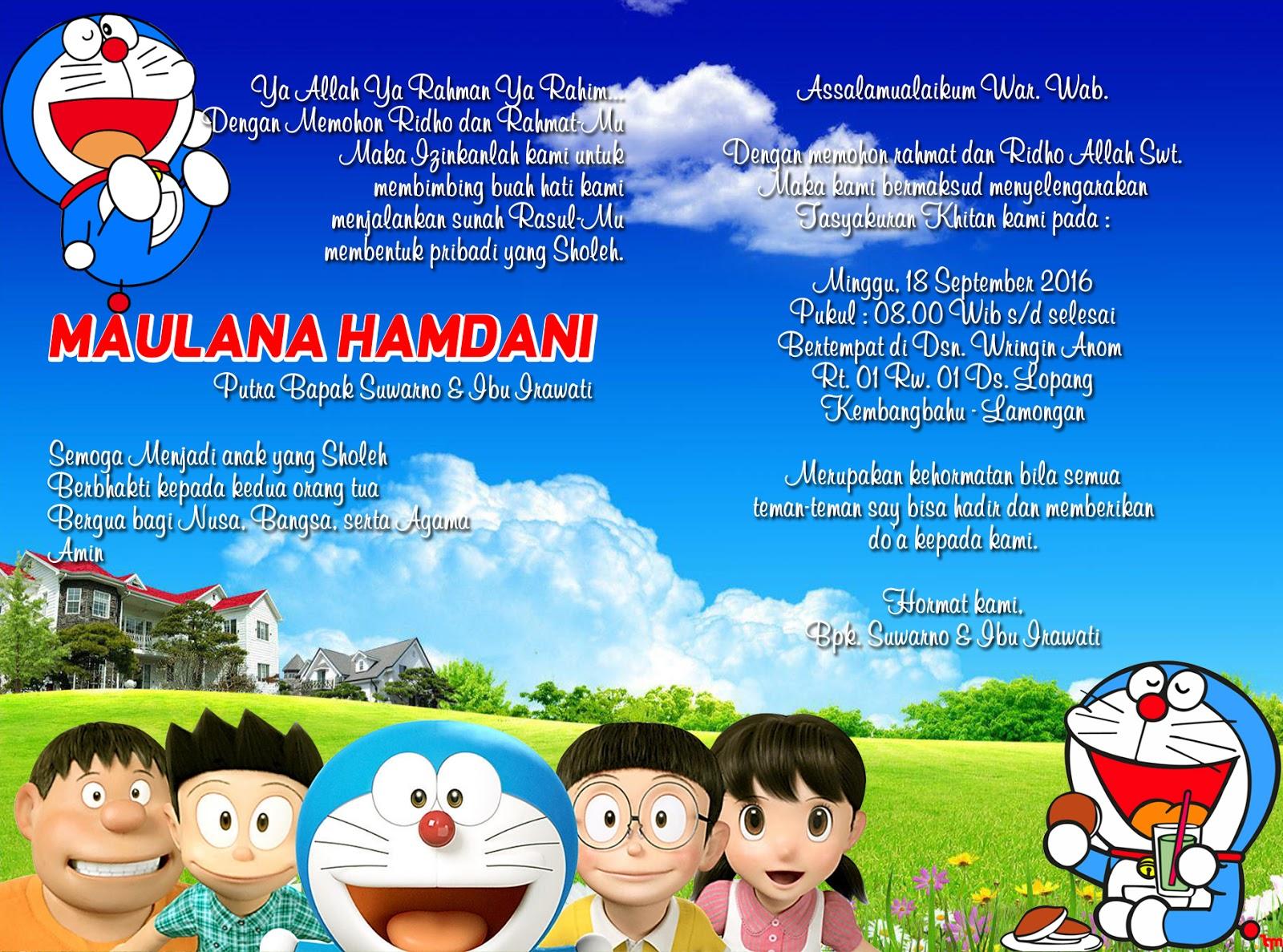 Undangan Model Doraemon Termurah Jawa Timur Nirwana Digital Print