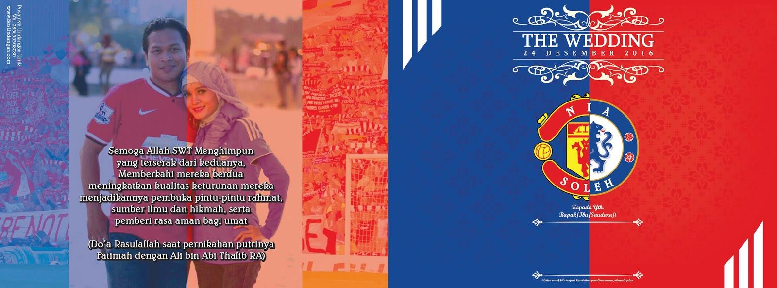Undangan Nikah Unik Model Klub Sepakbola MU Vs Chelsea Nirwana